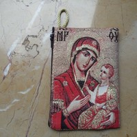 Mother and the Son themed textile Hand Purse from Constantinople