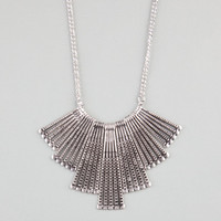 Full Tilt Textured Stick Statement Necklace Silver One Size For Women 23477614001