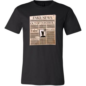 Funny Fake News Newspaper Political Stamped T-Shirt