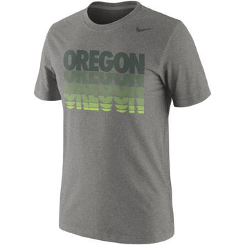 Nike Oregon Ducks Hyper Repeat T-Shirt - Ash