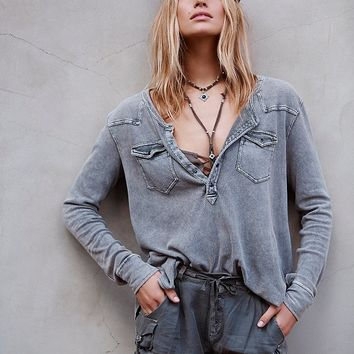 Free People We The Free City Lights Henley