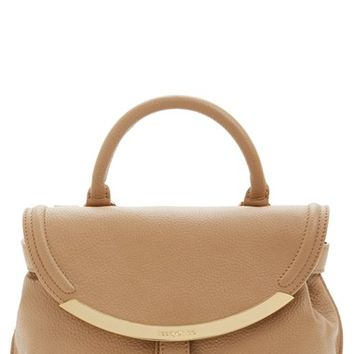 chloe pebbled leather satchel