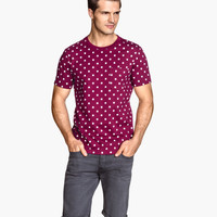 Dotted T-shirt - from H&M