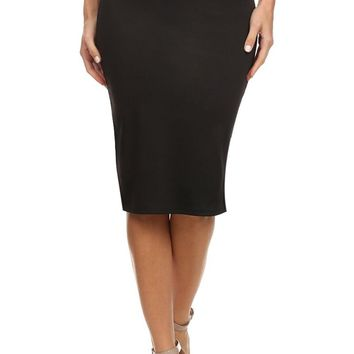 Women's Below the Knee Pencil Skirt for Office Wear