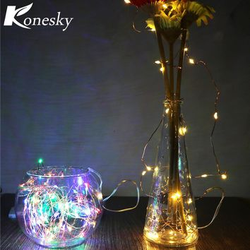 3m LED  Copper  Wire String Light with  Stopper for Glass Craft Bottle Fairy Valentines Wedding Decoration Lamp