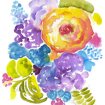 Abstract Bouquet Watercolor
