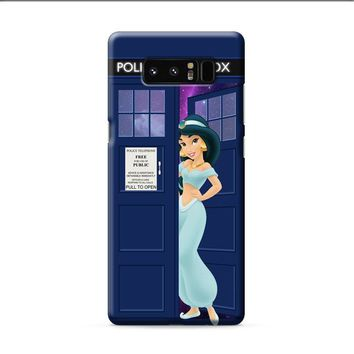 Disney Princess Jasmine Tardis Police Box Samsung Galaxy Note 8 case