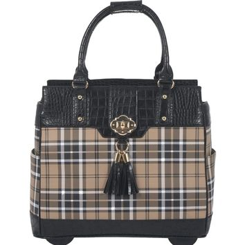 """MAD FOR PLAID"" Rolling Laptop Tote Holdall Bag"