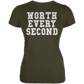Worth Every Second Army Juniors Soft T-Shirt