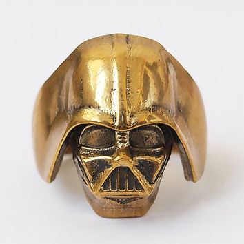 Darth Vader ring, Star wars, Star wars ring, Star wars jewelry, Darth Vader mask, Darth Vader, Brass jewelry, Metal ring, Men rings