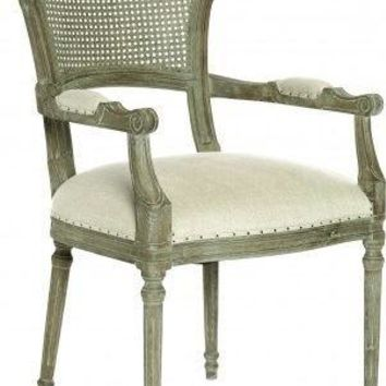 Chelsea Dining Chair in Linen/Cane Back