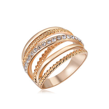 Ring For Women Rose Gold Plated Zirconia Jewelry Finger Rings for Women Wedding Band Classic Rings Body Jewelry