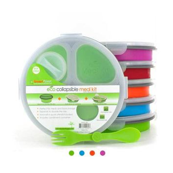 Collapsable Eco Meal Kit (Round 3 Compartment) - 2Shopper, Inc.