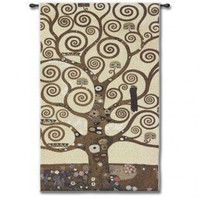 Fine Art Tapestries Klimt Tree of Life - Klimt - 3090-WH - All Wall Art - Wall Art & Coverings - Decor