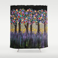 :: When Night Falls :: Shower Curtain by :: GaleStorm Artworks ::