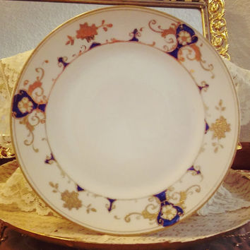 Noritake Royal Nippon Coblat and Gold Handpainted Plate