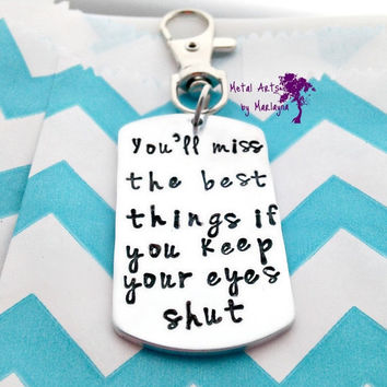 SALE Dr. Seuss Quote Hand Stamped Key Chain Graduation Gift Teacher Gift Inspirational Quote Jewelry life quote jewelry Hand Stamped Jewelry