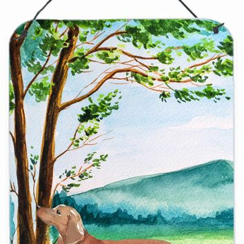 Under the Tree Red Dachshund Wall or Door Hanging Prints CK2002DS1216