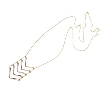 Chevron Ladder Gold Necklace