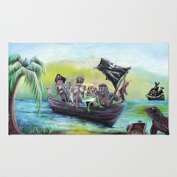 Pirate Booty Beach Rug by Laura Barbosa Art