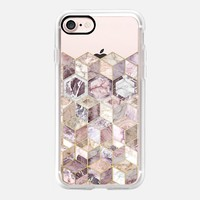 Blush Quartz Honeycomb - transparent iPhone 7 Case by Micklyn Le Feuvre | Casetify