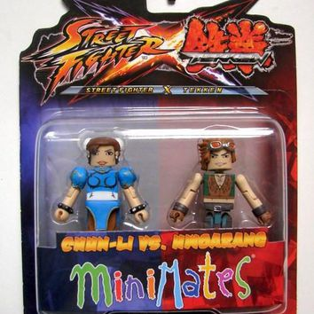 Street Fighter X Tekken Chu-Li Vs Hwoarang Minimate Action Figures
