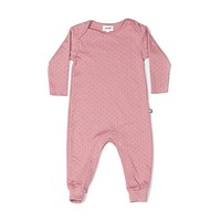 Organic Pink Baby Summer Jumpsuit - 3-6m