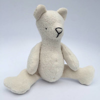 Organic Natural Polar Teddy Bear Doll Stuffed Animal Toy