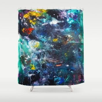 Chaos in Color Shower Curtain by Ducky B