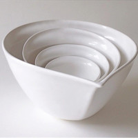 Mixing and Prep Bowls in White