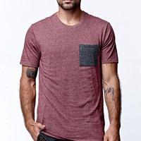 On The Byas Mack Fall Contrast Pocket Crew T-Shirt - Mens Tee