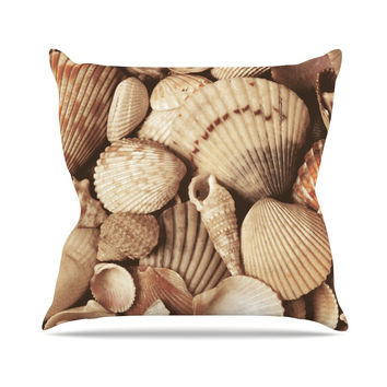 "Heidi Jennings ""Shells"" -Tags Outdoor Throw Pillow"