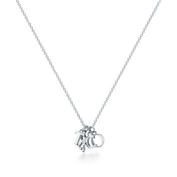 "Tiffany & Co. - Tiffany Charms:Love Notes ""T&CO.""Dangle Pendant"