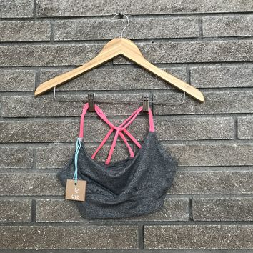 Forever 21 Women's Gray and Pink Sport Bra