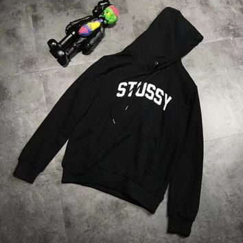 ESBONV Stussy Fashion Long Sleeve Casual Monogram Print Hooded Sweater G-A-XYCL