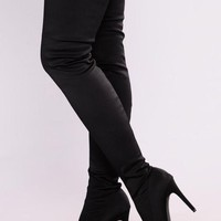 DCK7YE Keyana Thigh High Boot - Black