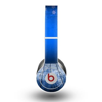 The Snowy Blue Wooden Dock Skin for the Beats by Dre Original Solo-Solo HD Headphones
