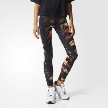 CREYONN Fashion Adidas Tight stretch Multicolor Print Exercise Fitness Gym Yoga Running Leggings Sweatpants