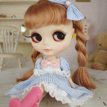 Set of 2 pullip dress/bow dal dress/YOSD dress/ blythe dress/rose garden /Cute princess outfit / Blythe fashion / doll dress