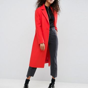 ASOS Longline Boyfriend Coat at asos.com