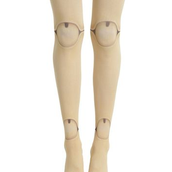 Licensed cool Blackheart Tan Doll Leg Creepy Costume Cosplay Tights Pantyhose Nylons Stockings