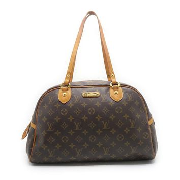 Louis Vuitton Monogram Montorgueil GM Shoulder Bag Brown
