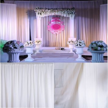 95''x59'' White Sheer Sick Drapes Panels Hanging Curtains Wedding Accessories Party Decor Home Bedroom Decoration