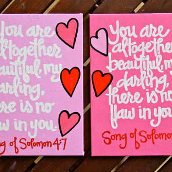 """Custom Scripture or Quote Painting - 8""""X10""""X1"""" Canvas"""