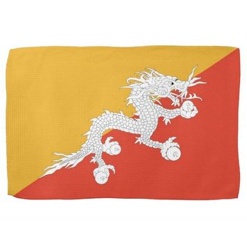 Kitchen towel with Flag of Bhutan