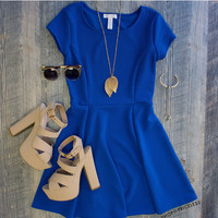 Crushin On You Dress in Royal Blue