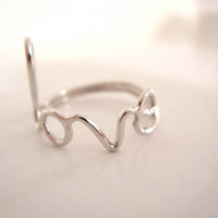 Love Ring Sterling Silver by PorterGulch on Etsy