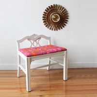 Hollywood Regency Vanity Bench Seat with Cushion