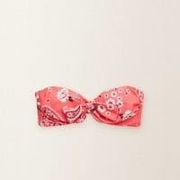 Aerie Bandana Bandeau Top, Pink | Aerie for American Eagle