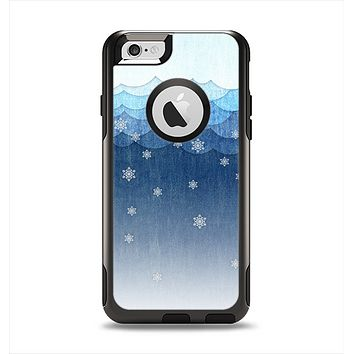 The Snowy Blue Paper Scene Apple iPhone 6 Otterbox Commuter Case Skin Set